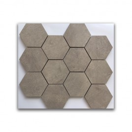 Manhattan Beige Satin Hexagon Mosaic