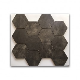 Manhattan Black Satin Hexagon Mosaic