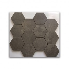 Manhattan Grey Satin Hexagon Mosaic