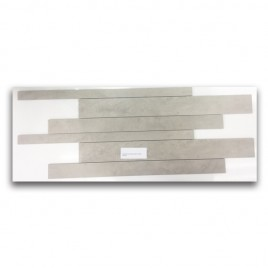 Manhattan Beige Satin Strip Mosaic
